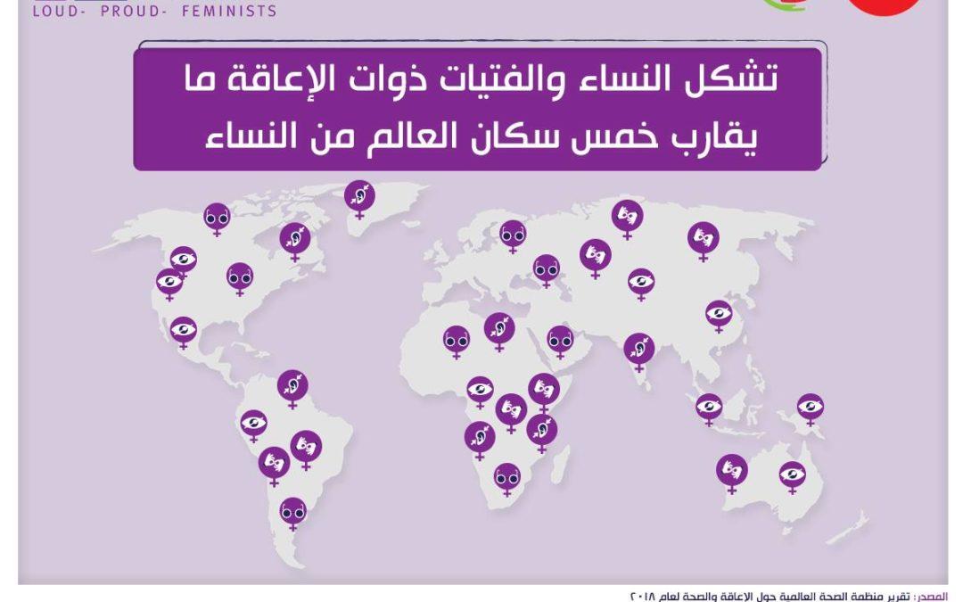 النساء والفتيات ذوات الإعاقة تشكلن ما يقارب خمس سكان العالم من النساء