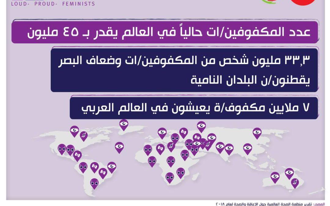 ٧ مليون مكفوف/ة يعيشون في العالم العربي.